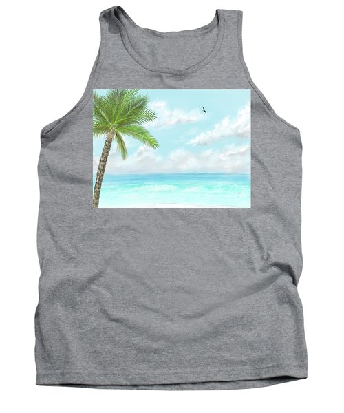Tank Top featuring the digital art Cancun At Christmas by Darren Cannell