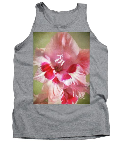 Candy Cane Gladiola Tank Top by Kathi Mirto