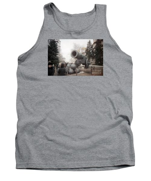 cannon in Moscow Tank Top by Ted Pollard