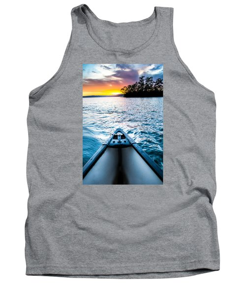 Canoeing In Paradise Tank Top