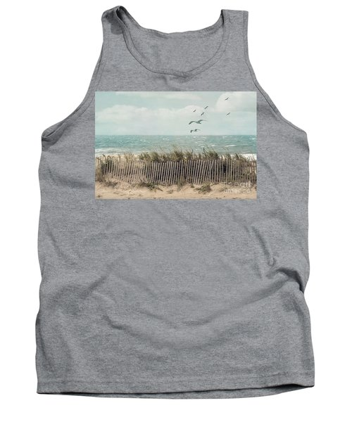 Cape Cod Beach Scene Tank Top