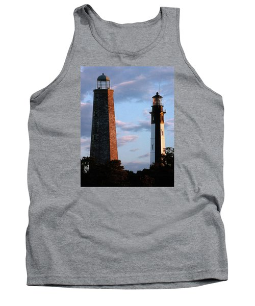 Cape Henry Lighthouses In Virginia Tank Top