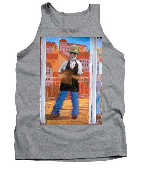 Tank Top featuring the painting Captured In Antibes by Gary Coleman