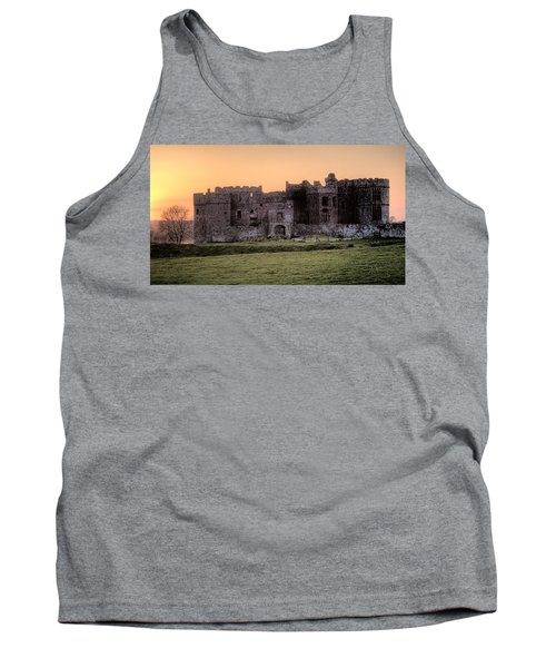 Carew Castle Coral Sunset Tank Top by Steve Purnell
