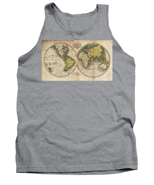 Tank Top featuring the photograph Carey's Map Of The World  1795 by Daniel Hagerman