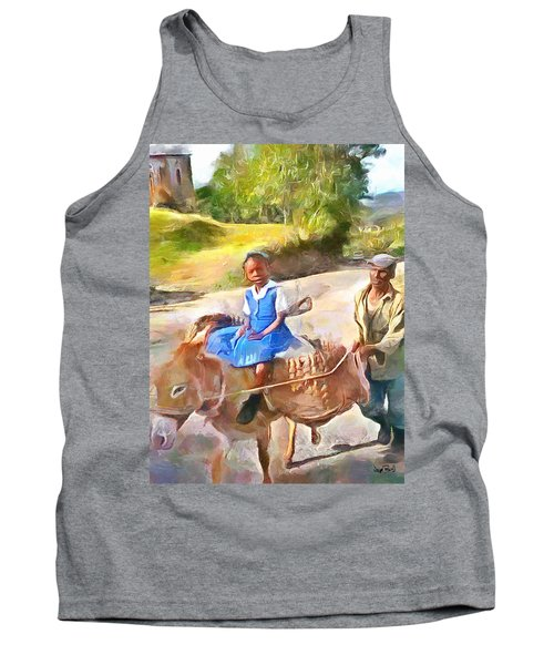 Caribbean Scenes - School In De Country Tank Top by Wayne Pascall