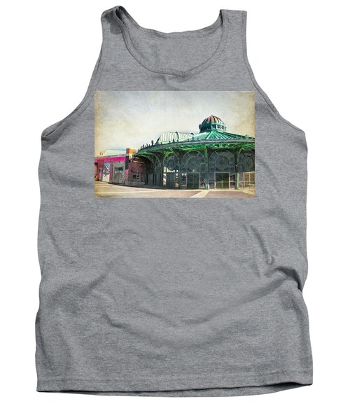 Tank Top featuring the photograph Carousel House At Asbury Park by Colleen Kammerer