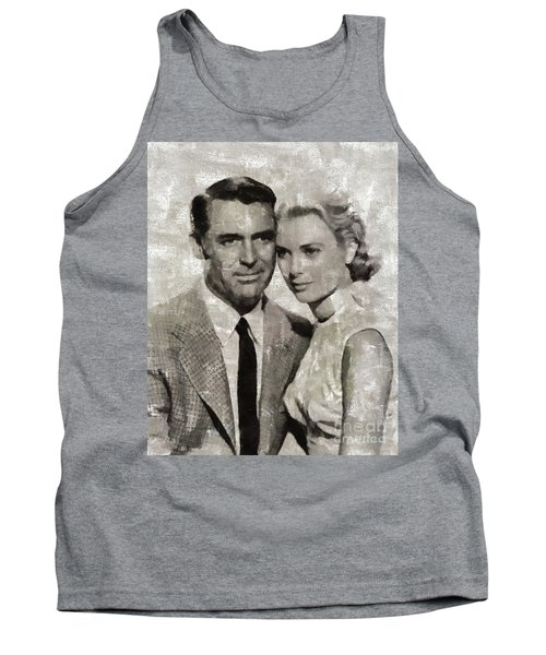 Cary Grant And Grace Kelly, Hollywood Legends Tank Top