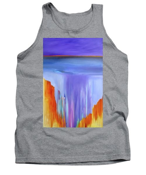 Tank Top featuring the painting Casade by Jo Appleby