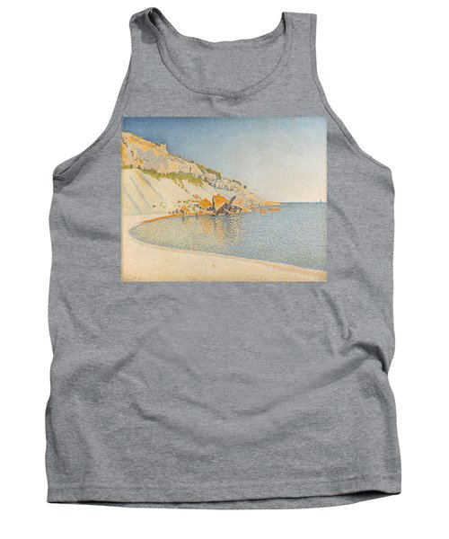 Tank Top featuring the painting Cassis. Cap Lombard. Opus 196 by Paul Signac