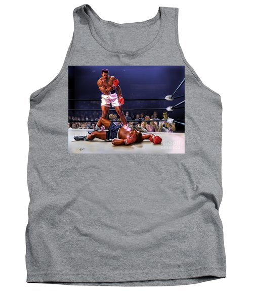 Cassius Clay Vs Sonny Liston Tank Top