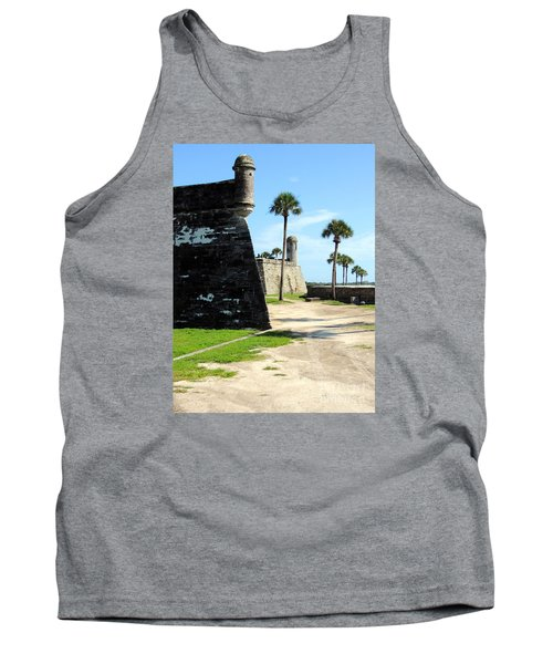 Tank Top featuring the photograph Castillo De San Marcos St Augustine Florida by Bill Holkham