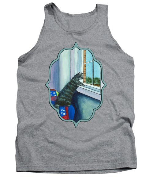 Cat By The Window Tank Top
