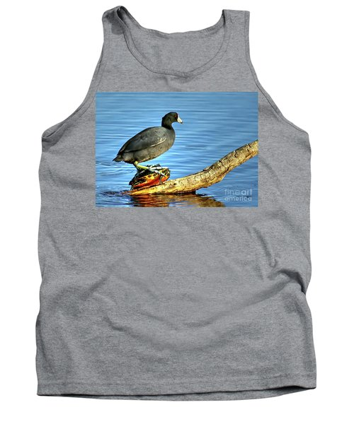 Catching A Slow Ride Tank Top by Myrna Bradshaw