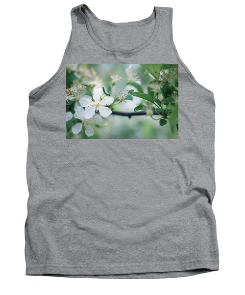 Caterpillar On A Tree Blossom Tank Top