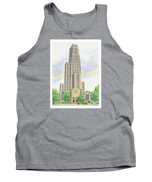 Tank Top featuring the painting Cathedral Of Learning by Val Miller
