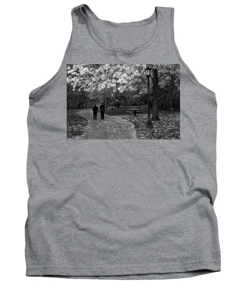 Cathedral Park In Fall Bw Tank Top
