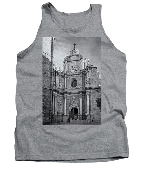 Tank Top featuring the photograph Cathedral Valencia Spain by Joan Carroll