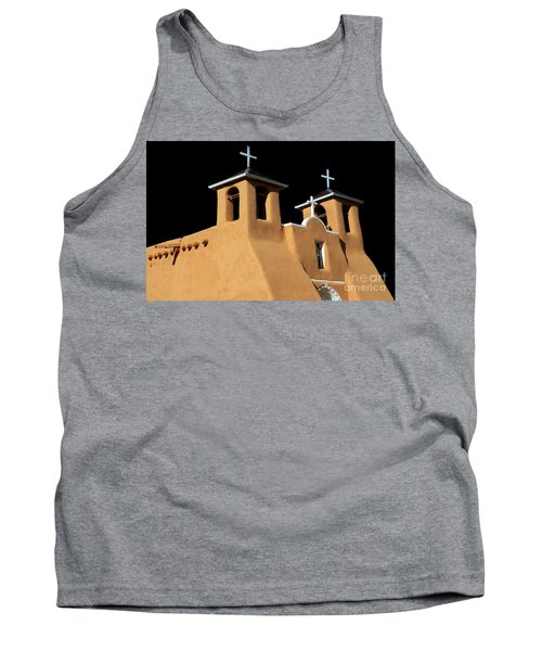 Tank Top featuring the photograph St Francis De Assi Church  New Mexico by Bob Christopher