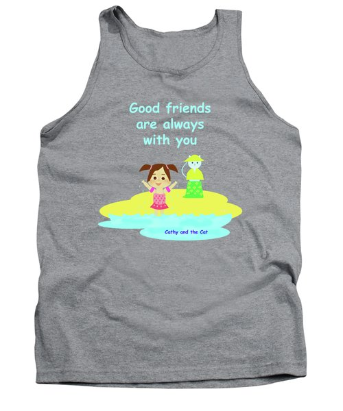Cathy And The Cat Friends Are With You Tank Top