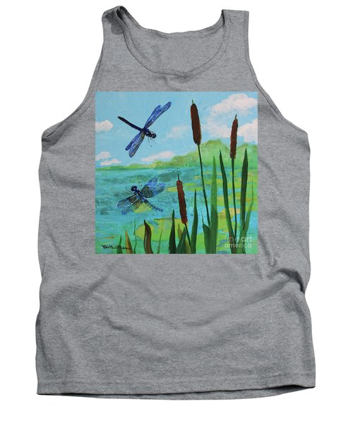 Cattails And Dragonflies Tank Top
