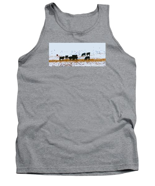 Cattle And Birds Tank Top
