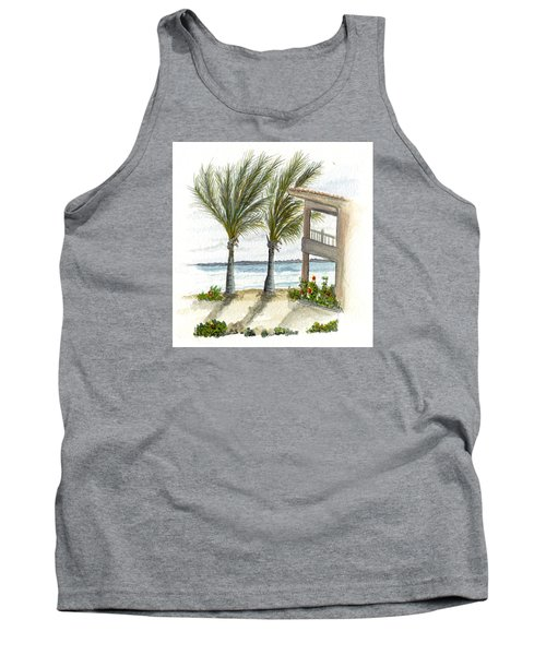 Tank Top featuring the digital art Cayman Hotel by Darren Cannell