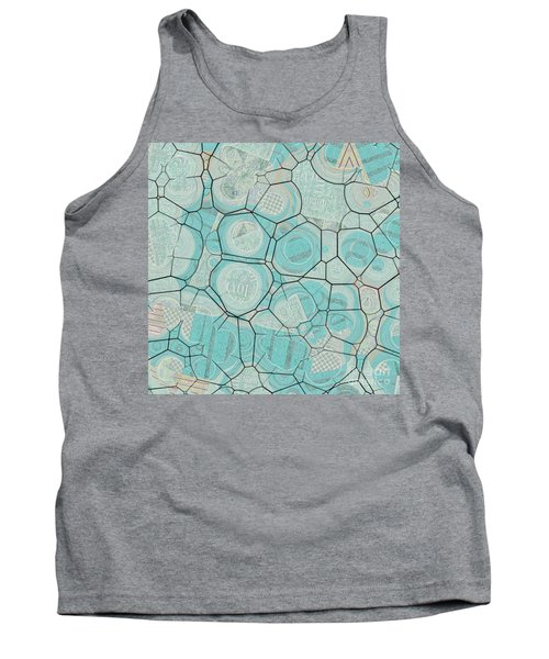 Tank Top featuring the digital art Cellules - 04c1 by Variance Collections
