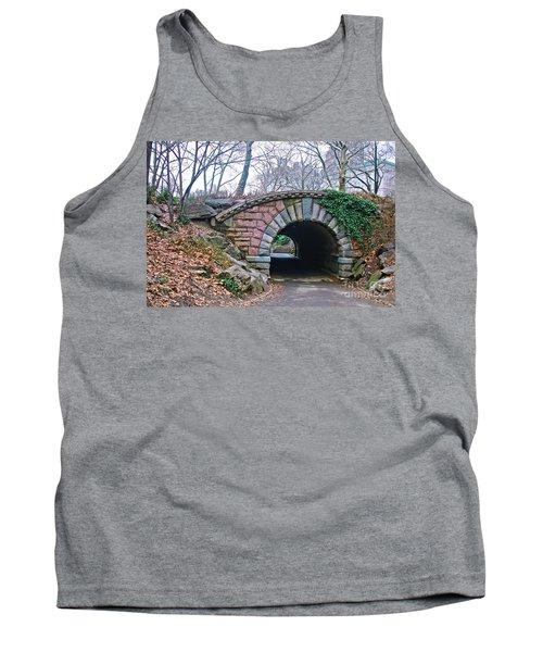 Central Park, Nyc Bridge Landscape Tank Top