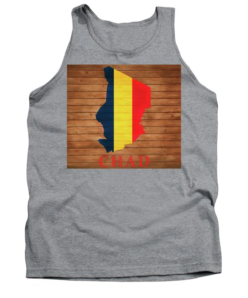 Chad Rustic Map On Wood Tank Top