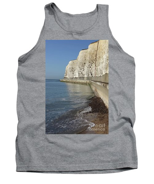 Chalk Cliffs At Peacehaven East Sussex England Uk Tank Top