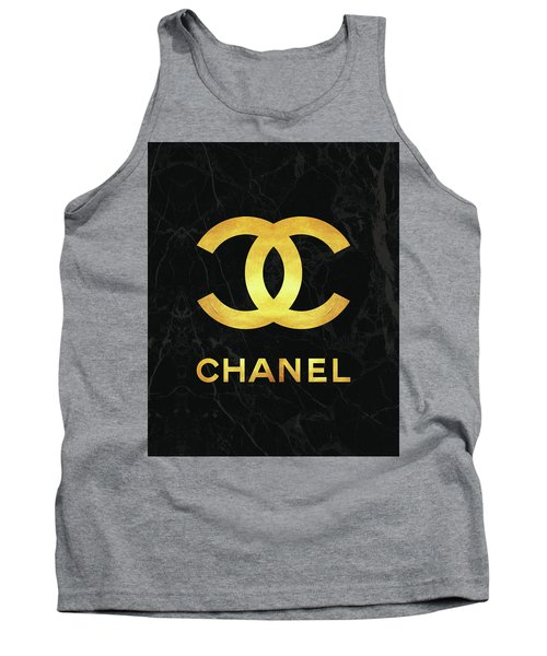 Chanel - Black And Gold - Lifestyle And Fashion Tank Top