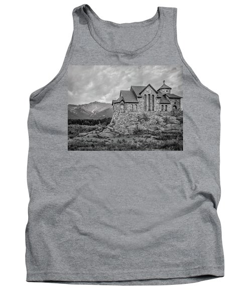 Chapel On The Rock - Black And White Tank Top