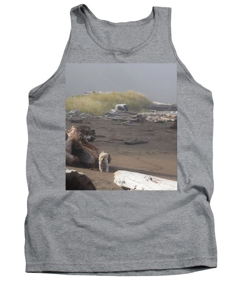 Charlie On Irish Beach Tank Top