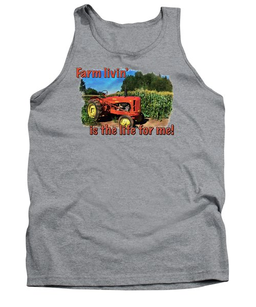 Charlie The Tractor Tank Top by Richard Farrington