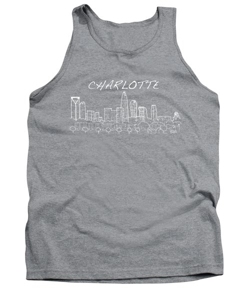 Charlotte Nc With Text View From The East Tank Top