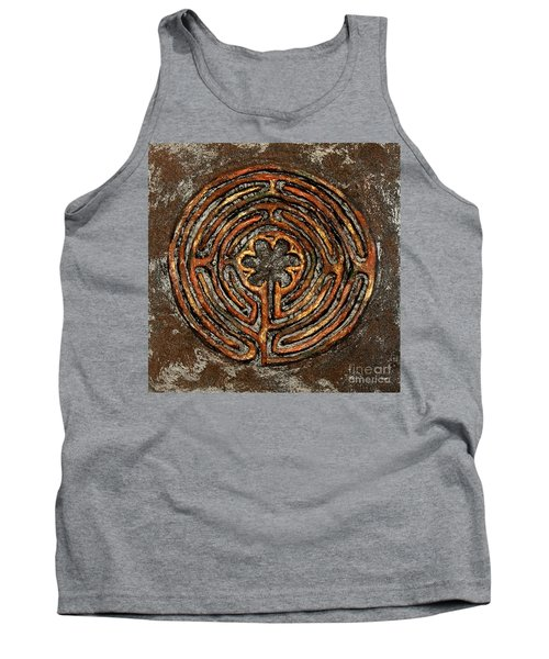 Chartres Style Labyrinth Earth Tones Tank Top