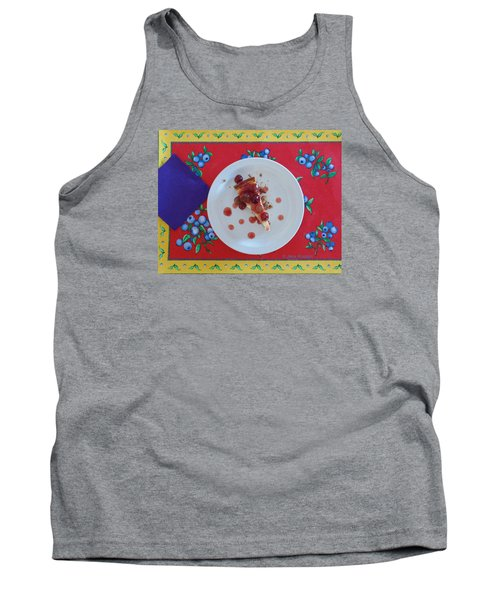 Cheese Cake With Cherries Tank Top by Jana Russon
