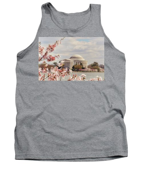 Cherry Blossom And Jefferson Tank Top
