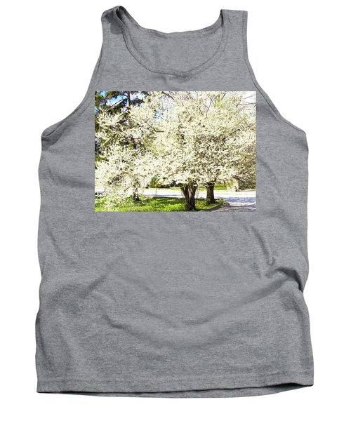 Cherry Trees In Blossom Tank Top