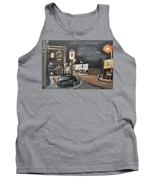 Chertsey At Night 1 Tank Top by Carole Robins