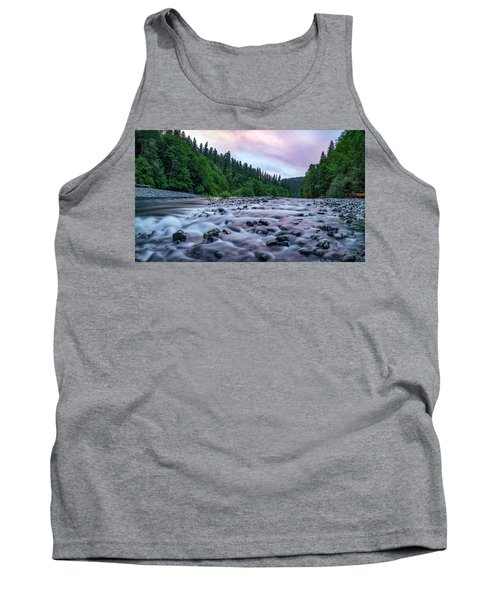Chetco River Sunset 2 Tank Top by Leland D Howard