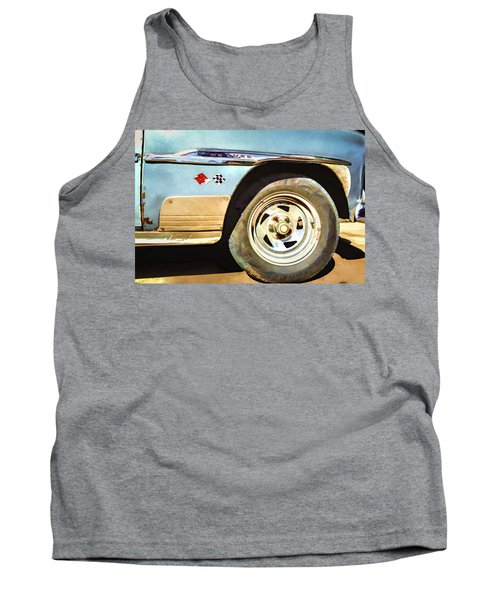Tank Top featuring the photograph Chevy Deluxe by Lou Novick