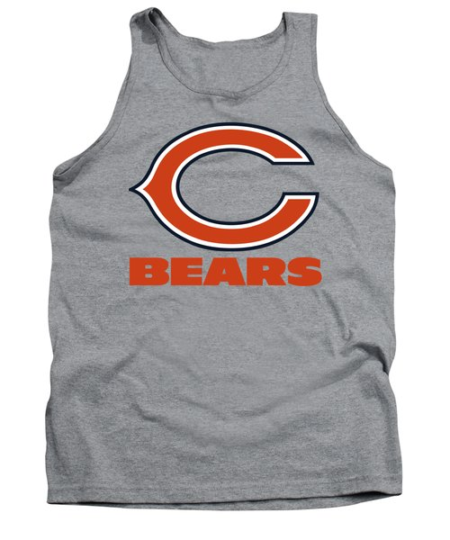 Chicago Bears On An Abraded Steel Texture Tank Top