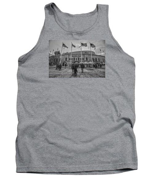 Chicago Bears Soldier Field Black White 7861 Tank Top by David Haskett