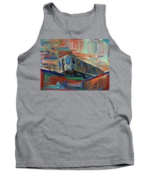 Chicago City Train Tank Top