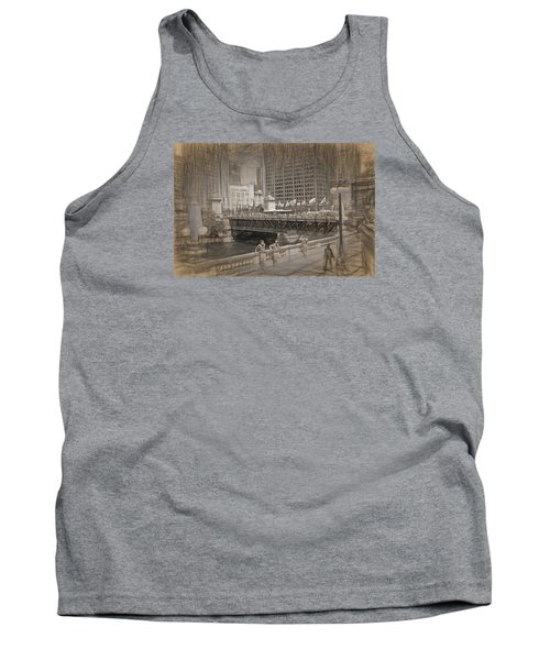 Chicago Dusable Bridge Street Scene Tank Top