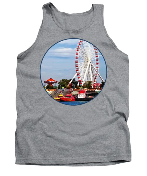 Chicago Il - Ferris Wheel At Navy Pier Tank Top