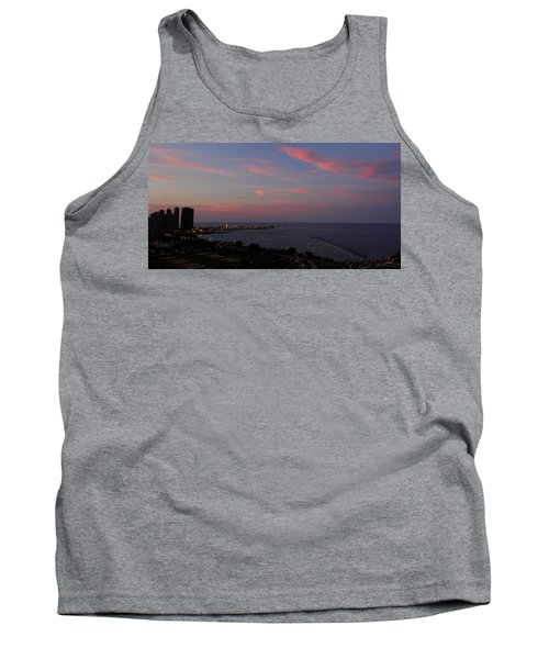 Chicago Lakefront At Sunset Tank Top