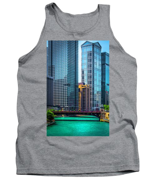 Chicago River From Michigan Ave Dsc2107 Tank Top by Raymond Kunst